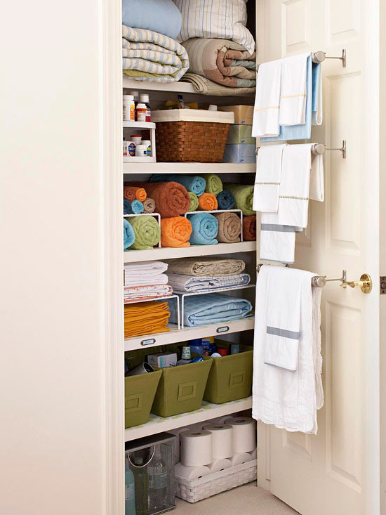 towel closet organization ideas