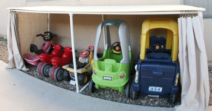 backyard toy storage system