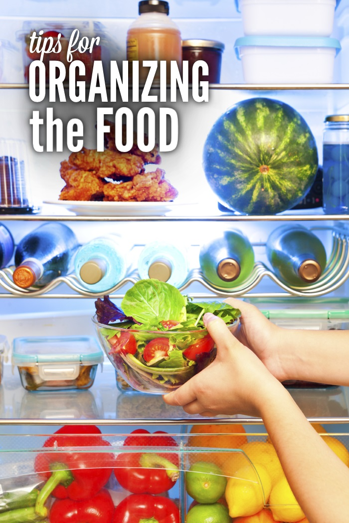 how to organize food