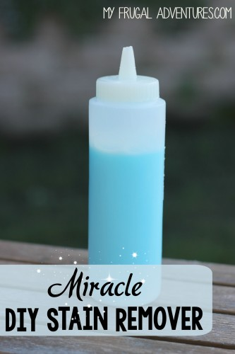 bottle of DIY miracle stain remover