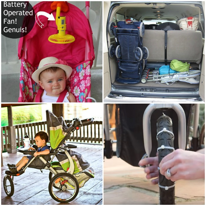 stroller hacks square collage
