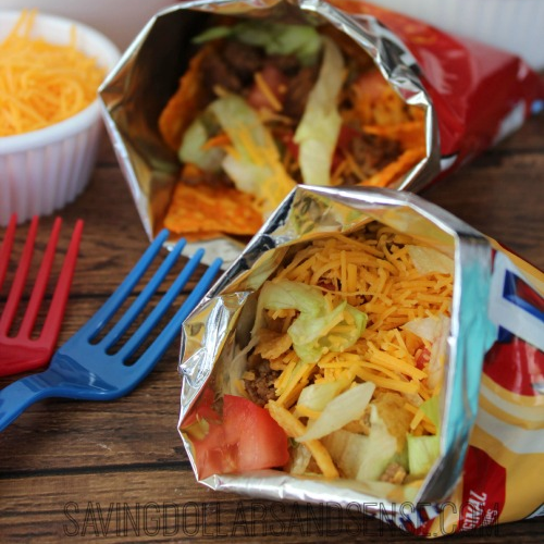taco bag party food idea
