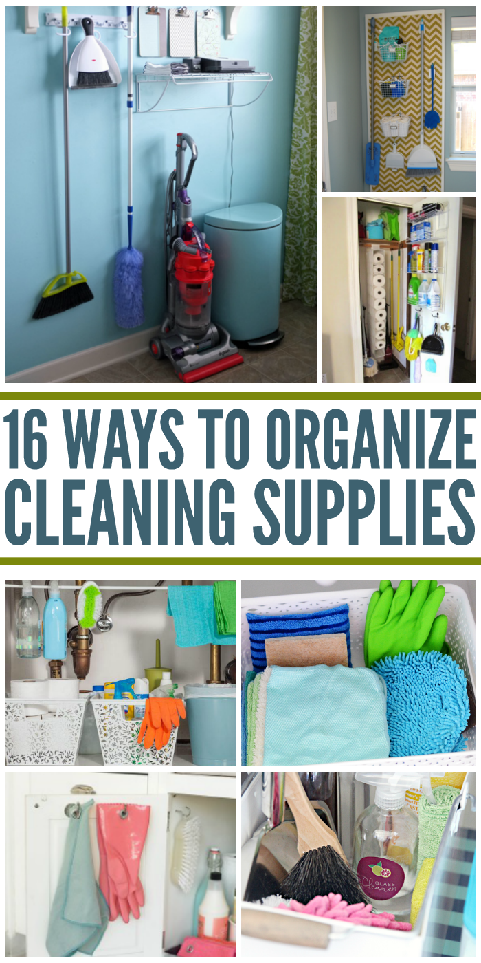 16 clever ways to organize cleaning supplies - Diy tips home window cleaning ...