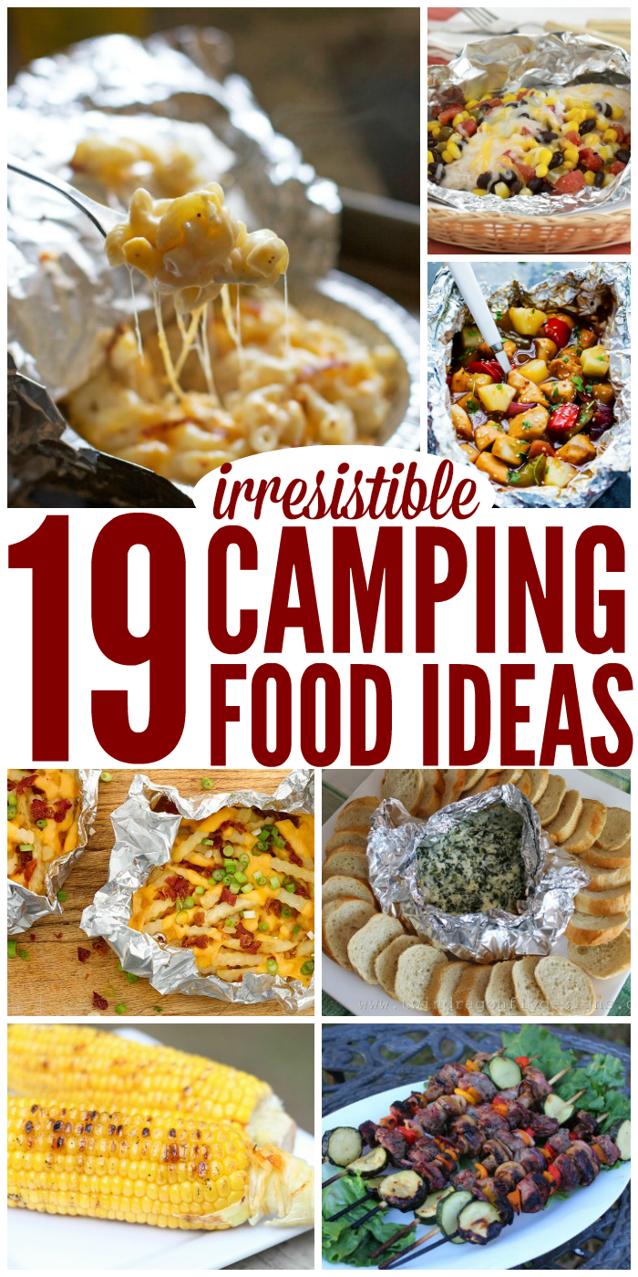Make meals while camping easy and delicious and maybe even a little healthy.