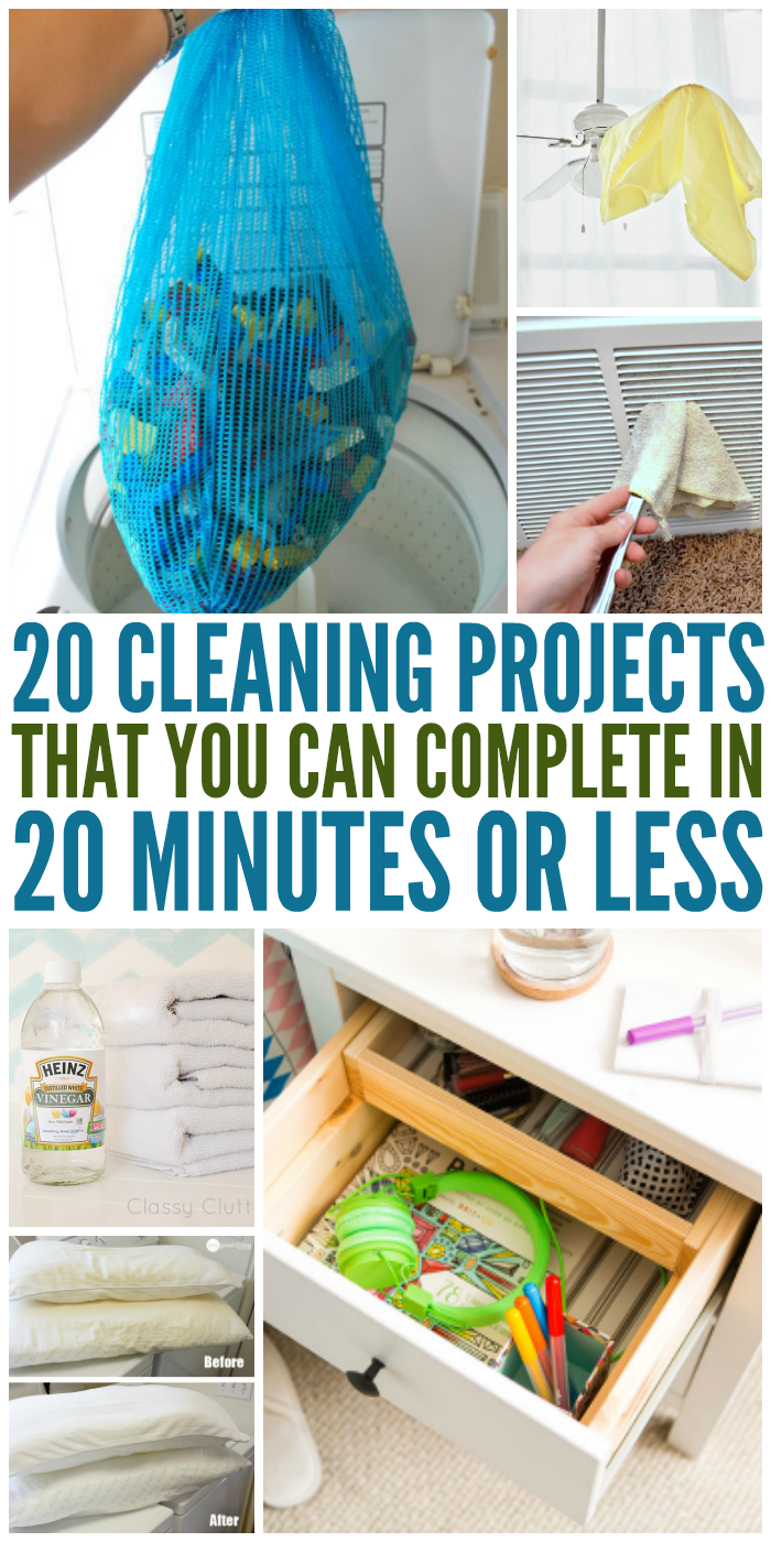 20 Cleaning Projects You Can Do in 20 Minutes or Less