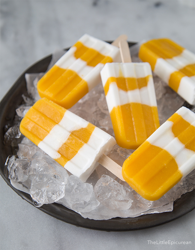 Coconut Mango Popsicle