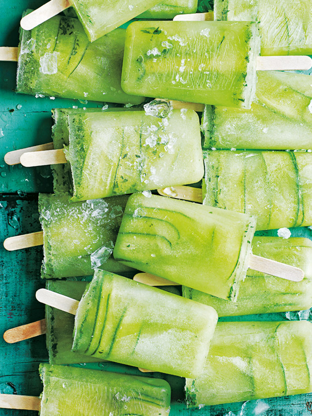 Cucumber Mint Lime Popsicle
