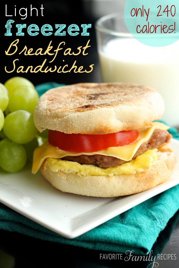 Freezer Meals-24-Breakfast sandwiches