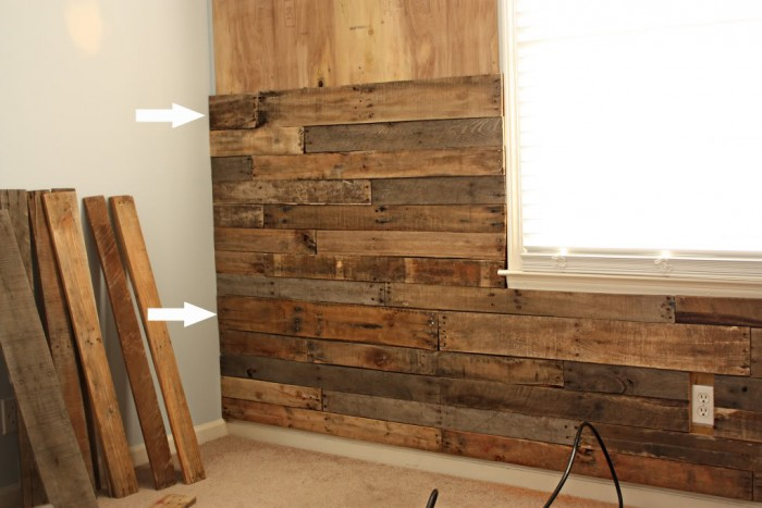 Nursery Accent Wall Take Any Room From Drab To Fab By Adding A Pallet This Is Made Entirely Broken Down Pallets Gorgeous