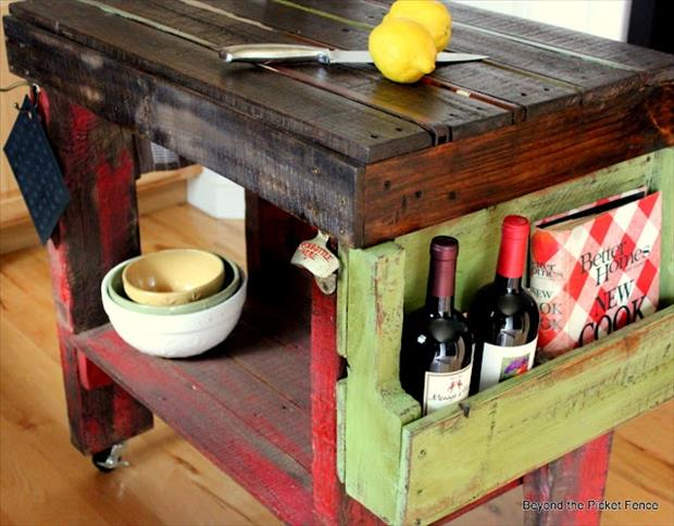 beyond the picket fence pallet kitchen
