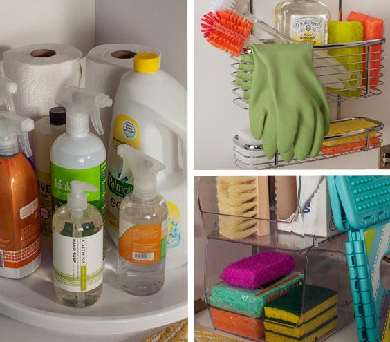 Clever Ways To Organize Cleaning Supplies - Supplies for cleaning bathroom