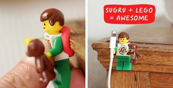 lego phone cord holder