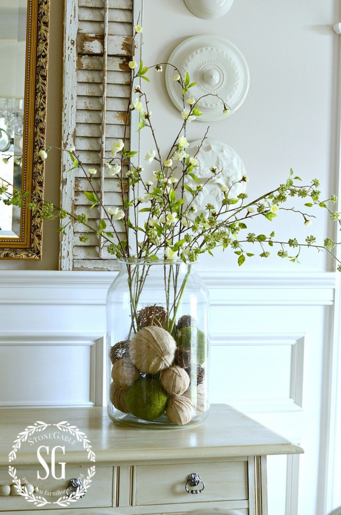 Tall and large vases have a large variety of aesthetic applications. Set one on your console table for clean, rural entryway display; or place one in the dining room to promote a rustic decor. These pieces work well on their own, and they serve as exceptional containers for certain florals.