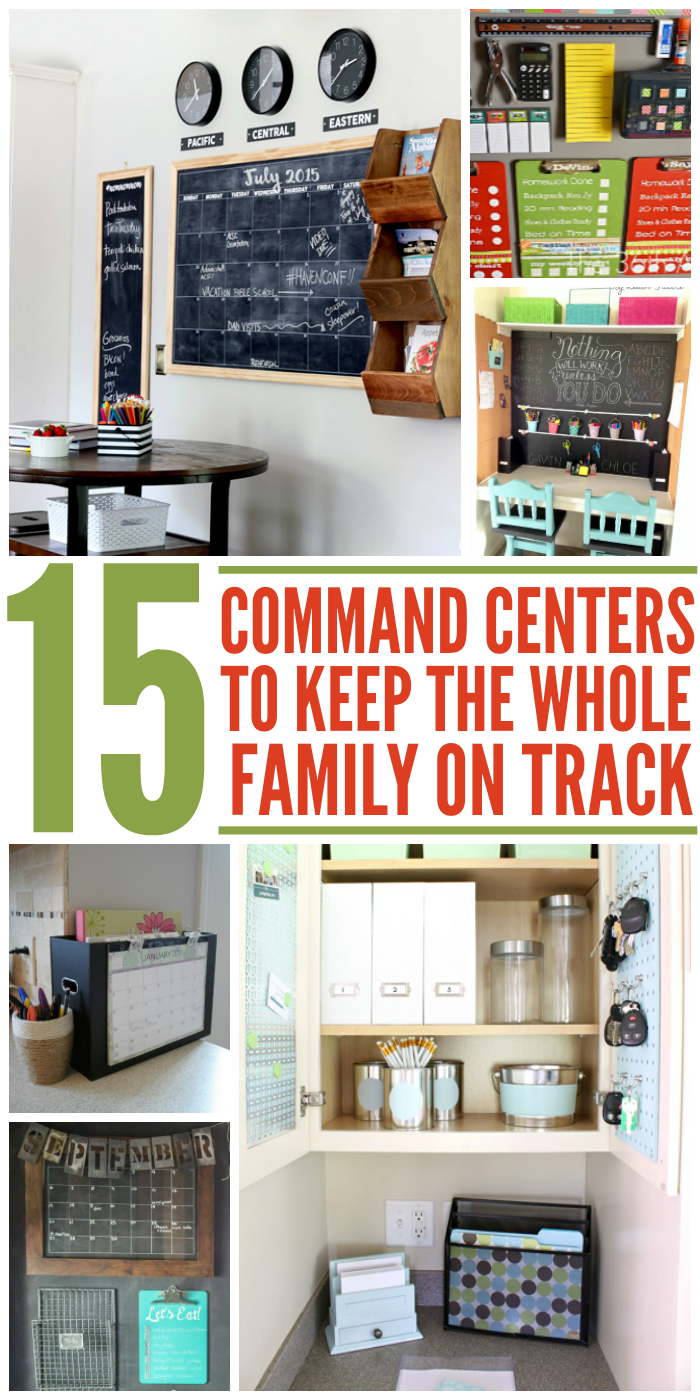 Keep the family organized and on track with these DIY command center tips, tricks and ideas.