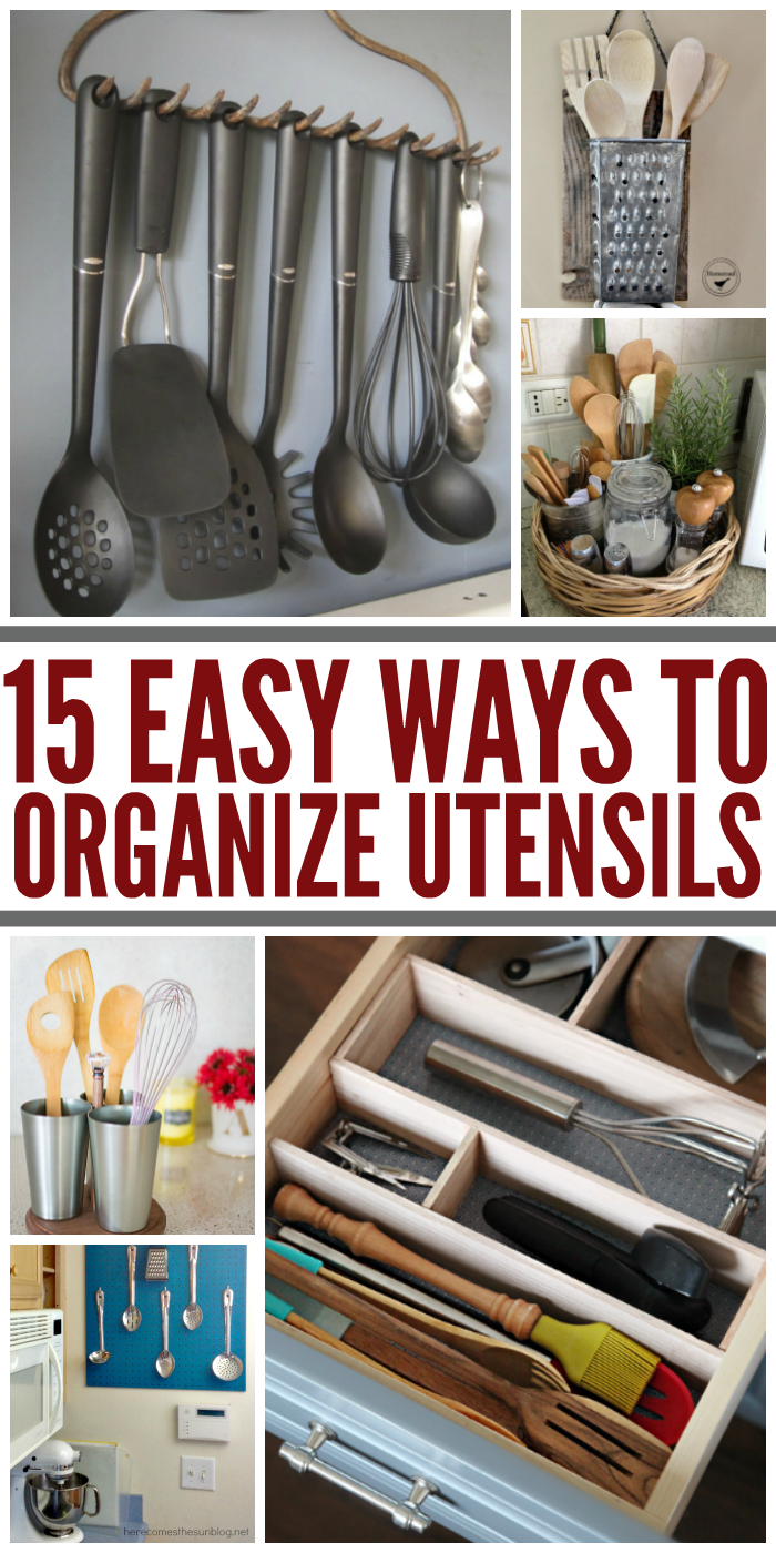 15 Easy and Pretty Ways to Organize Utensils