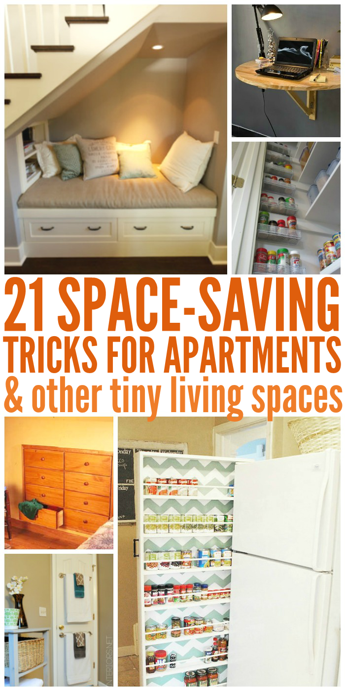21 space saving tricks small room ideas for Home space saving ideas