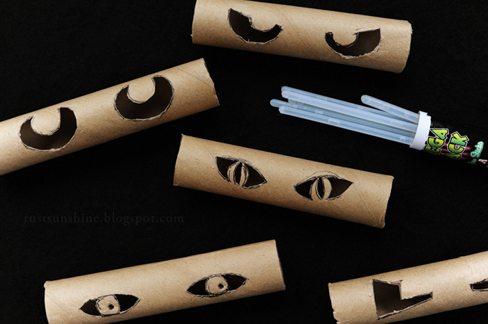 Toilet paper roll cut-outs