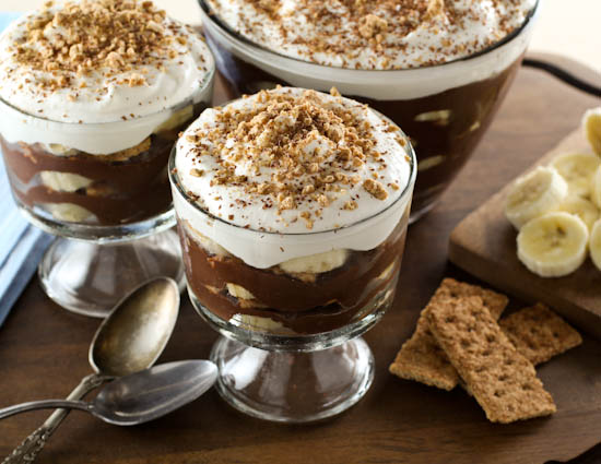 Dark Chocolate Banana Pudding