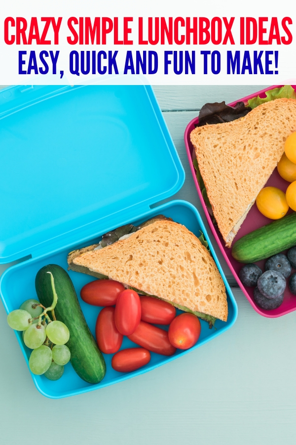 These super simple lunch box ideas are a great way to give your kid a lunch that they'll eat. Have fun and plan ahead with these ideas! #lunchbox ideas #school #schoollunch #onecrazyhouse
