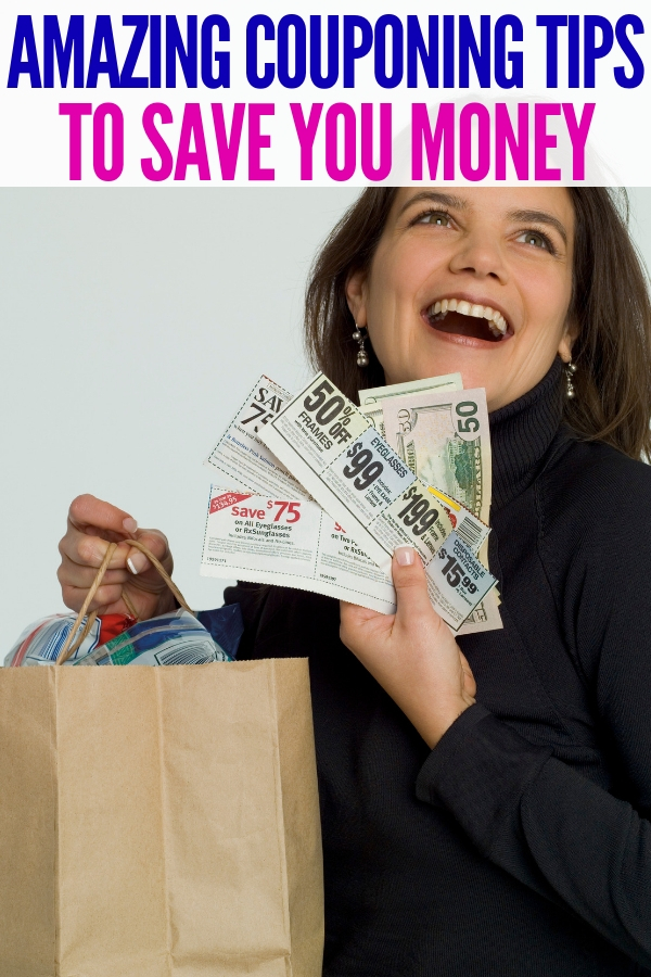 These simple couponing tips are a great way to save money at the store! Spend less while getting more! #couponingtips #onecrazyhouse #savingmoney #coupons