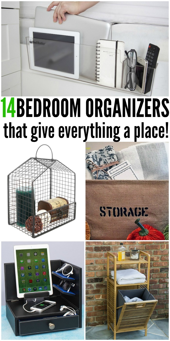 14 Bedroom Organizers that give Everything a Place | www.onecrazyhouse.com