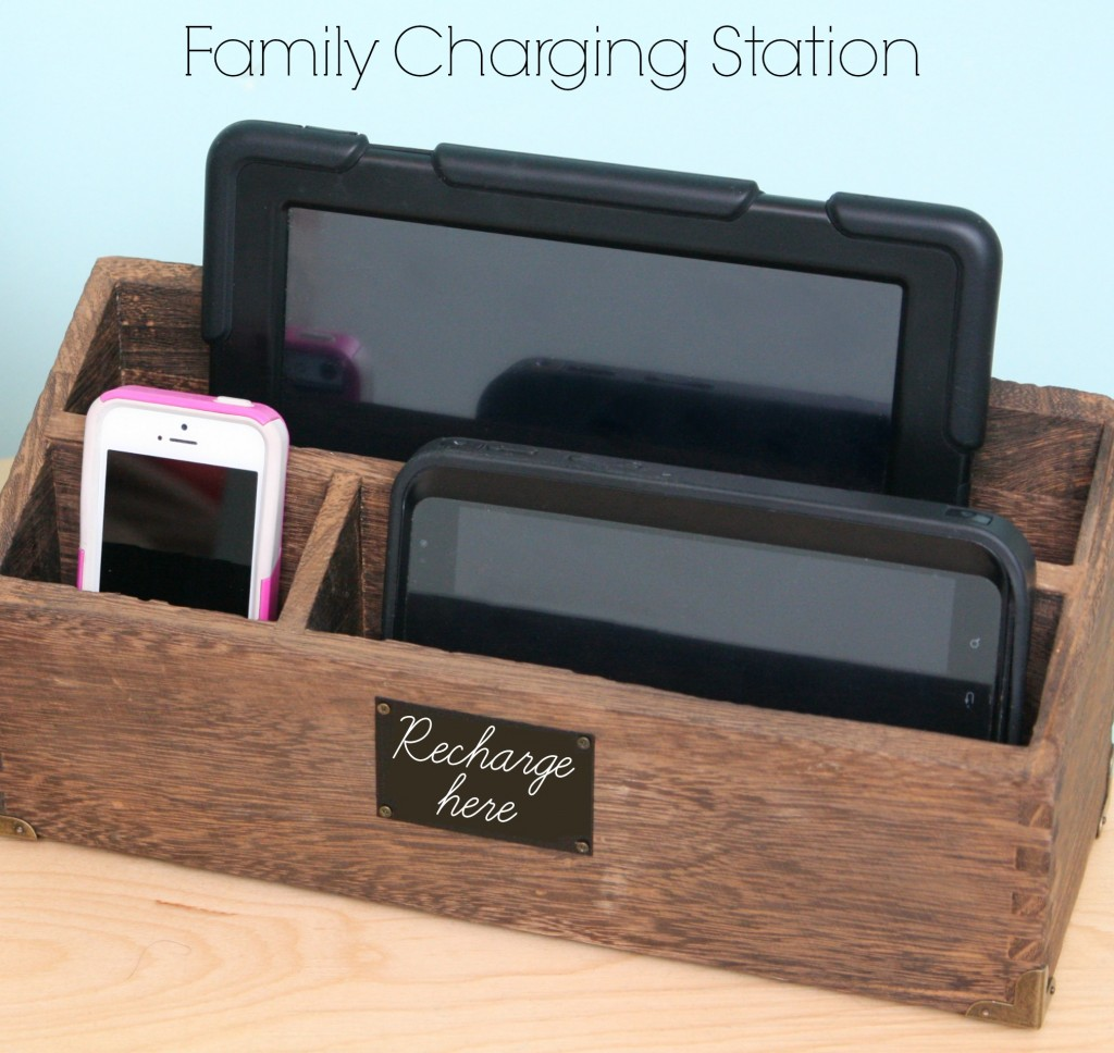 Family Charging Station 16 charging station ideas to eliminate device clutter