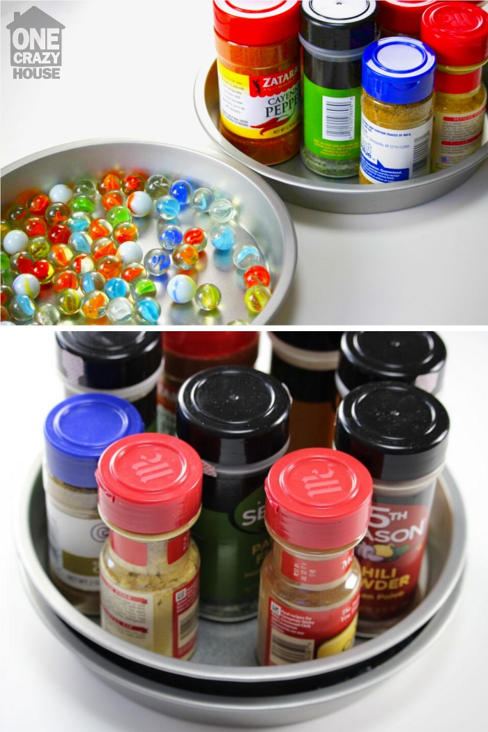 Organize with a lazy susan