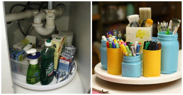 15 Clever Ways to Get Organized with a Lazy Susan