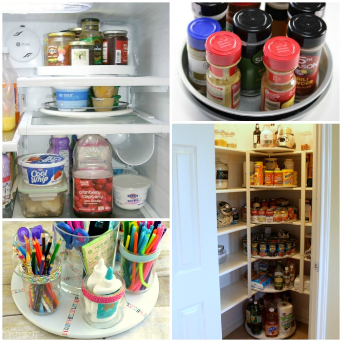 lazy susan organization ideas