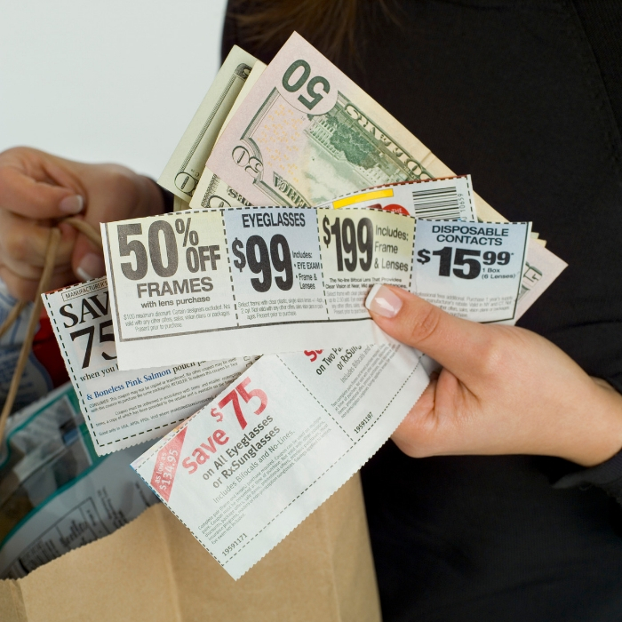 using coupons to save money