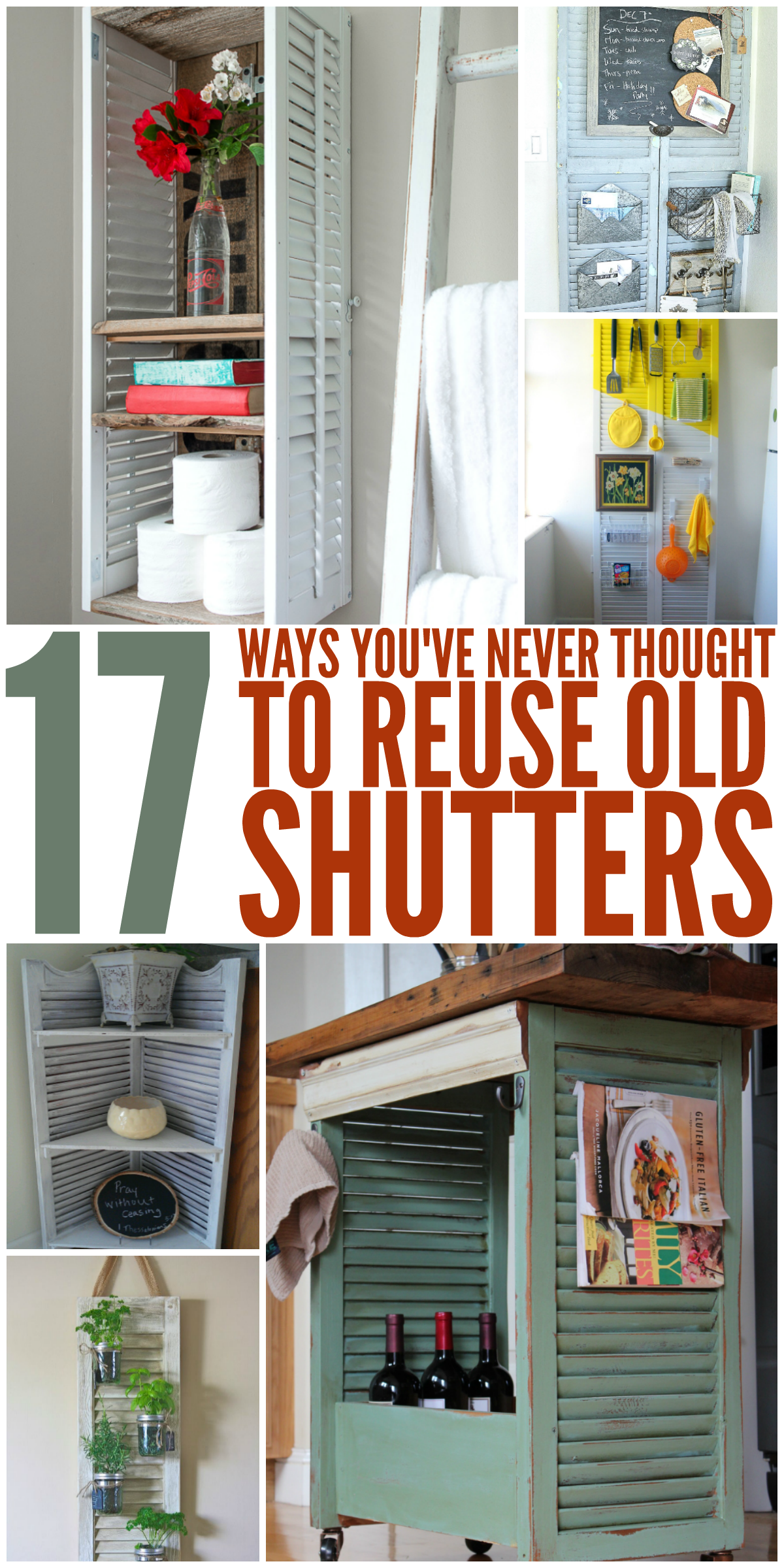 How to Turn Shutters Into a Pretty Cabinet advise