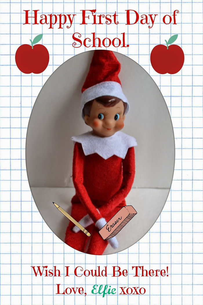 Elf on the Shelf postcard