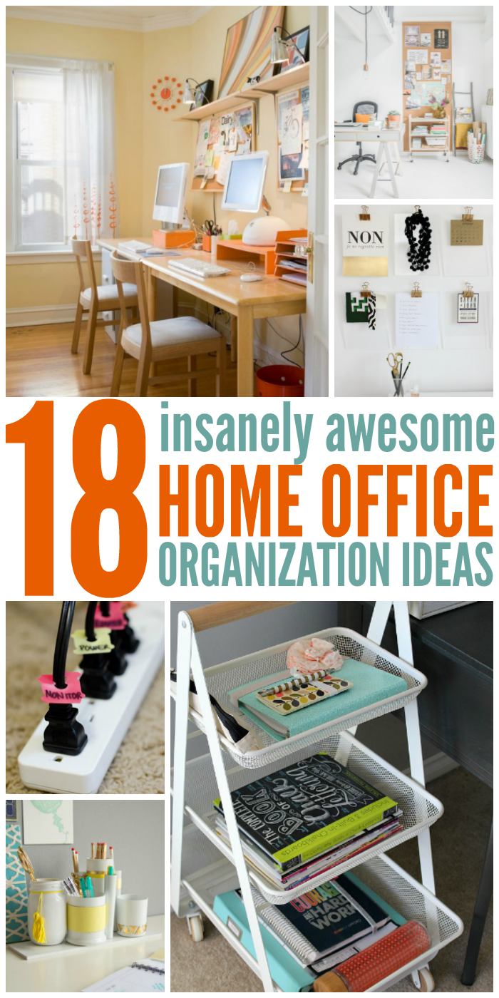 Home office tags home offices Desks One Crazy House 18 Insanely Awesome Home Office Organization Ideas