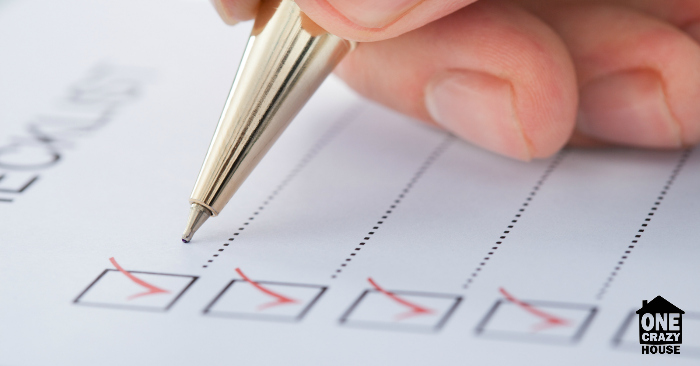 Create a checklist to develop your organization routine