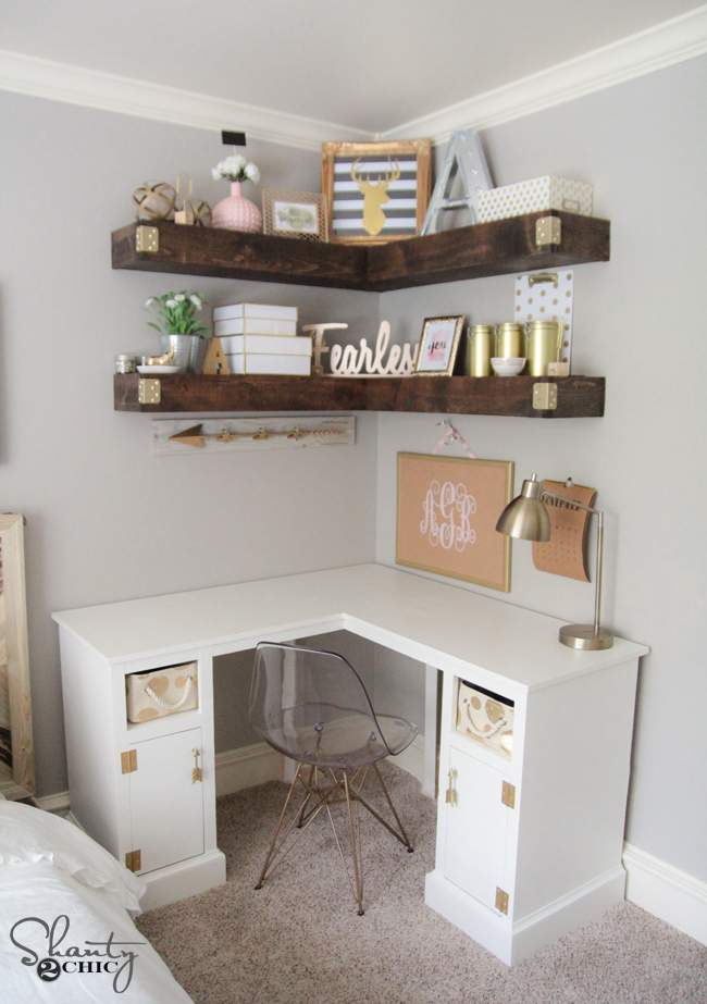 15 ways to better use corner space - Corner desk for small space ...