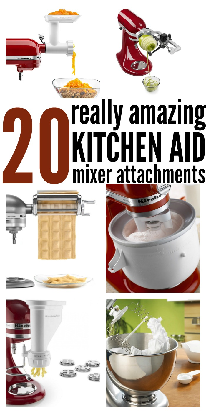 20 Amazing Kitchen Aid Mixer Attachments