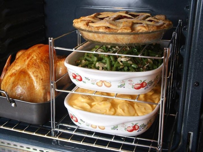 oven rack for stacking dishes