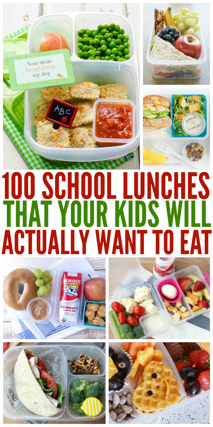 List Of Foods For School Lunches