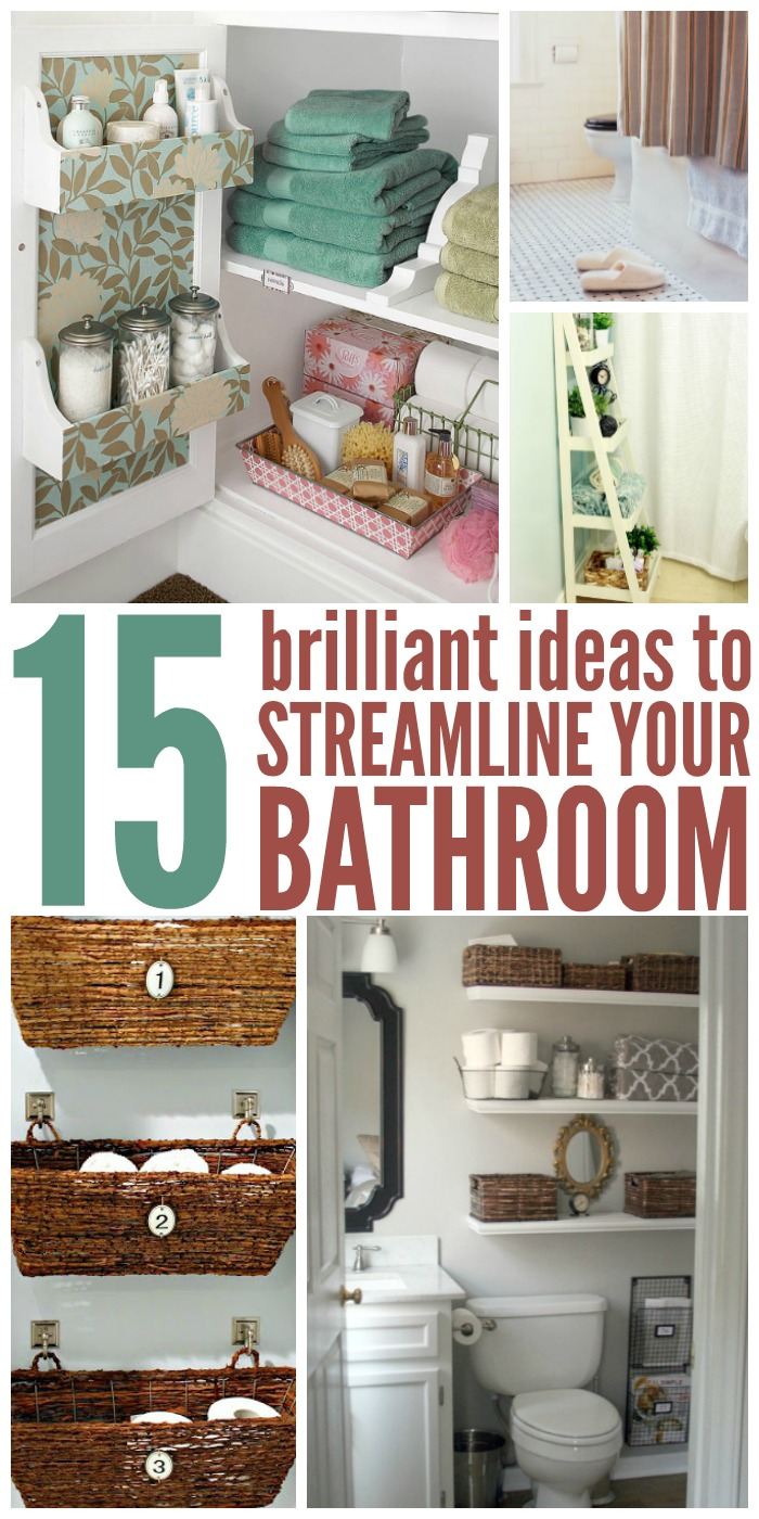 small bathroom organizing ideas 15 brilliant ideas to streamline your bathroom 21815