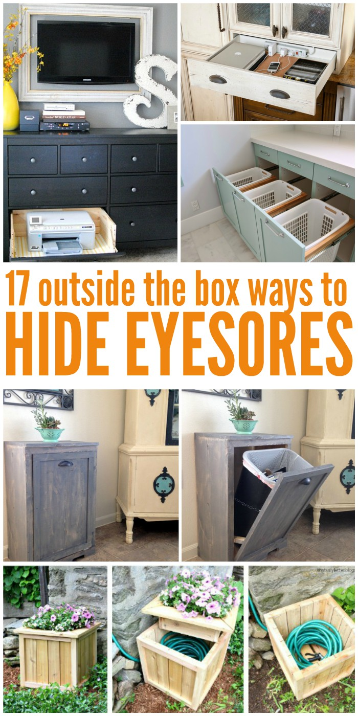 17 Clever Organization Ideas To Hide The Eyesores In Your Home