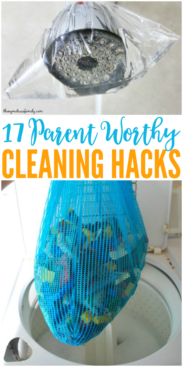 Parents unite! We've got 17 cleaning hacks to make our lives easier.
