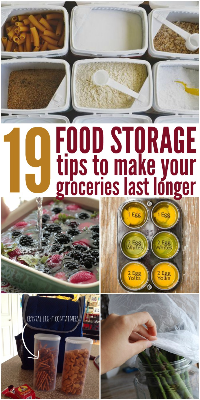 Make your food last longer with these awesome and clever tips, tricks, and diy ideas!
