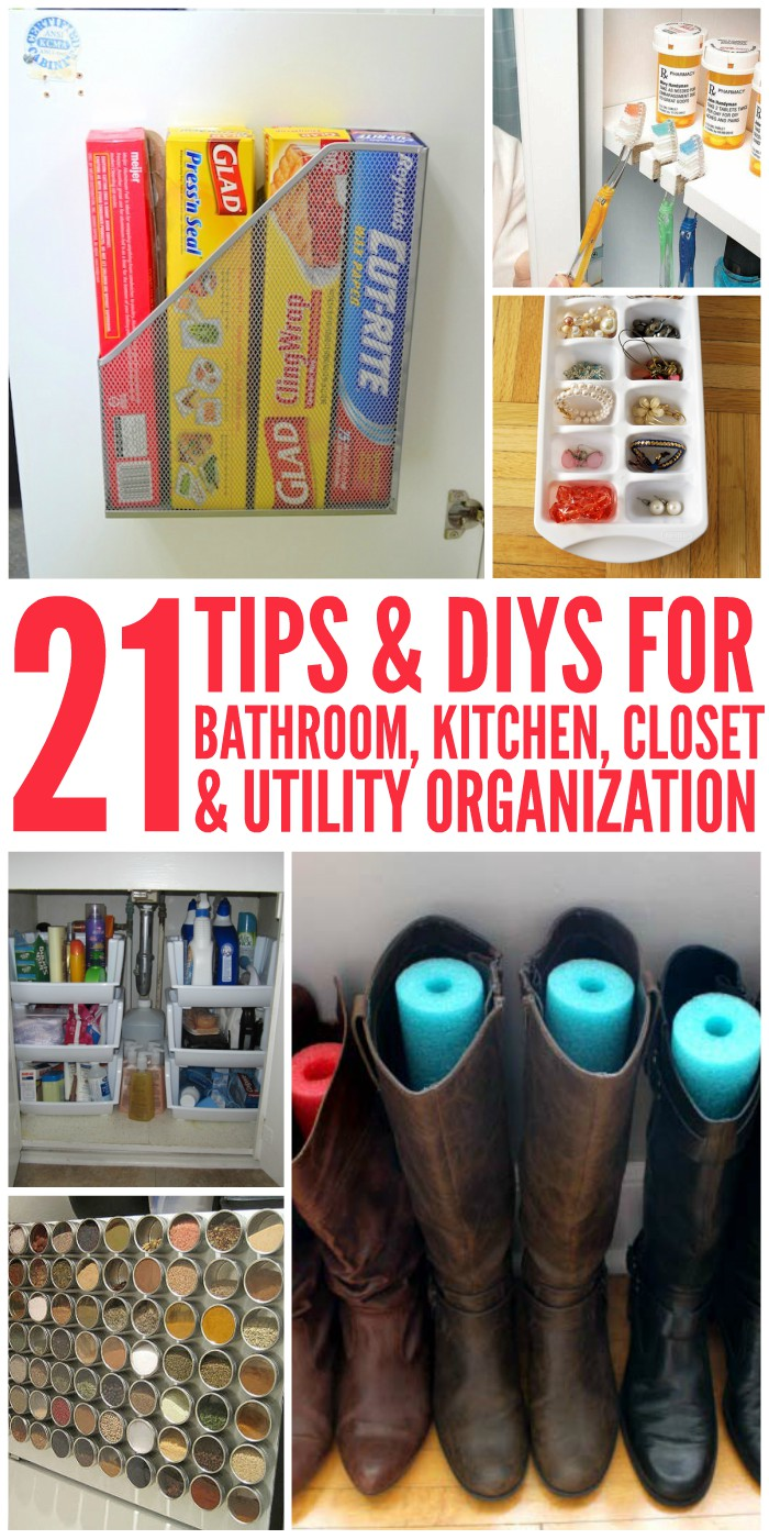 Here Are Some Of The Best Tips And DIY Organization Ideas To