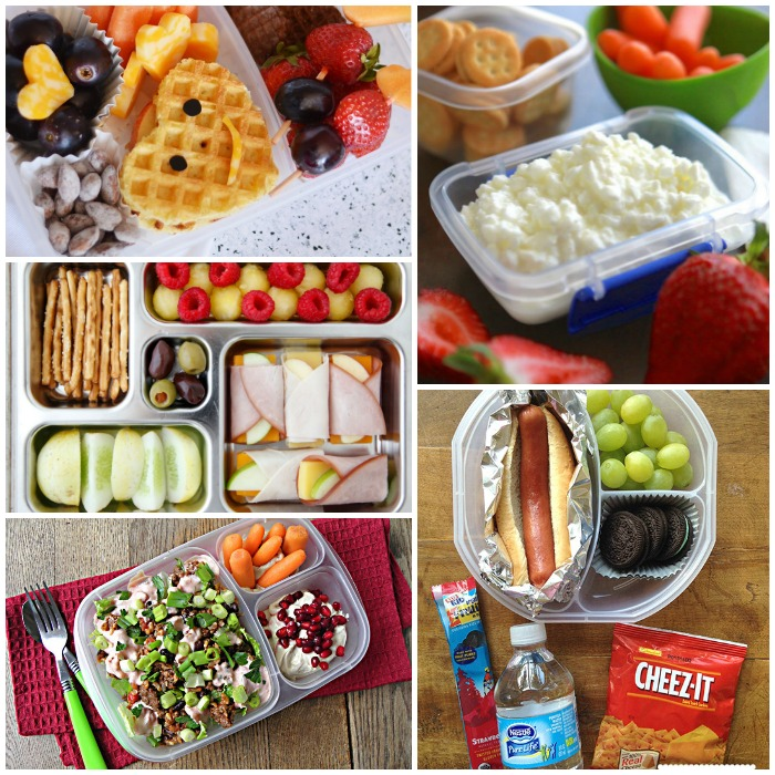 Whether or not 'your child has food restrictions, you're sure to find several lunch ideas they will actually eat! School Lunches Kids Can't Get Enough Of This lunch of hardboiled eggs, zucchini muffins, string cheese, blueberries and goldfish is the perfect combination of healthy and fun.