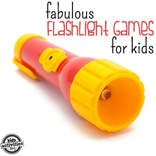 red and yellow flashlight
