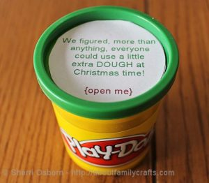 money gift idea with play doh