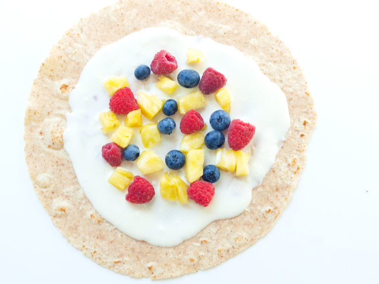 sweet fruit wraps with cream cheese