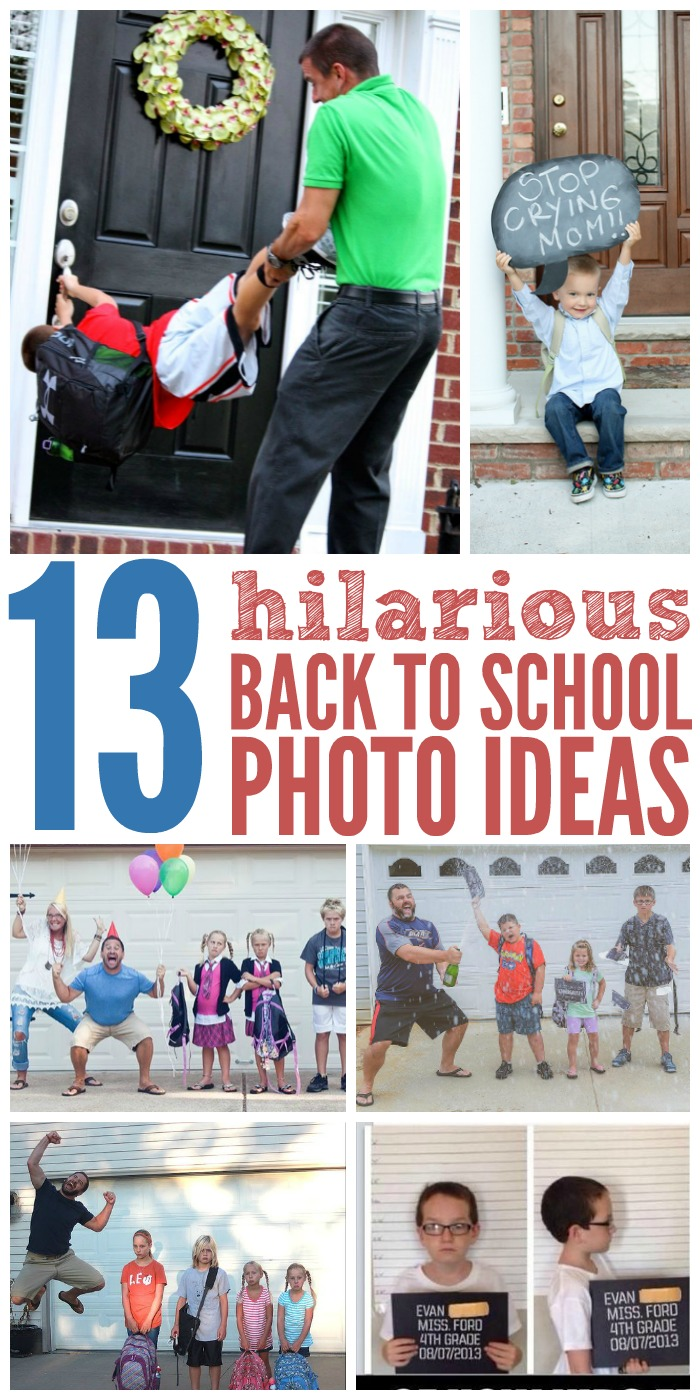 13 Funny Back to School Photo Ideas