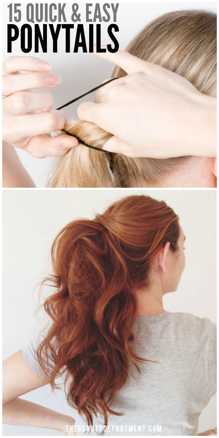 15 Quick and Easy Ponytails