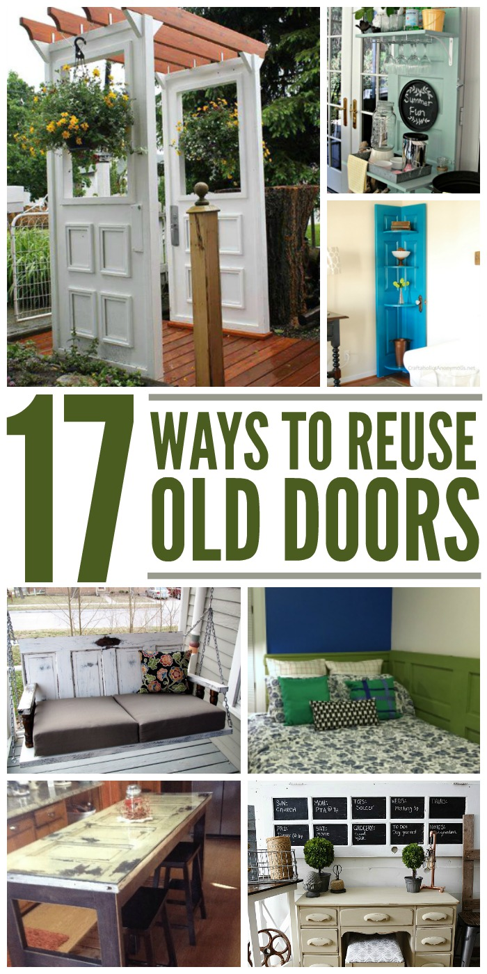 17 Crafty Ways to Recycle Old Doors